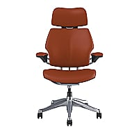 Humanscale Freedom Task Chair with Headrest - Polished Aluminum/Graphite
