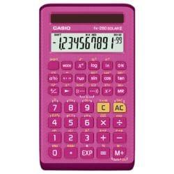 Casio FX 260 Solar II Scientific Calculator - Pink