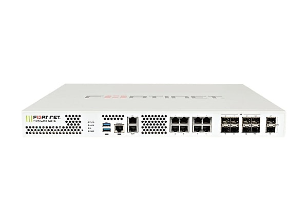 Fortinet FortiGate 601E - UTM Bundle - security appliance - with 1 year For