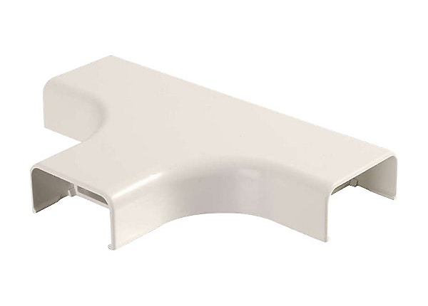 C2G Wiremold Uniduct 2900 Bend Radius Compliant Tee - Fog White - cable rac