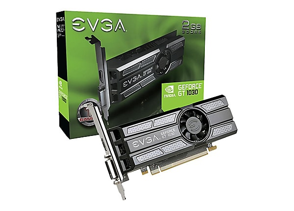 EVGA GeForce GT 1030 - graphics card - GF GT 1030 - 2 GB