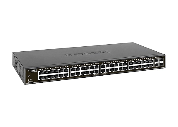 NETGEAR S350 48-Port Gigabit Smart Managed Pro Switch with 4 SFP(GS348T)