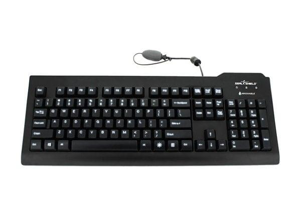 Seal Shield SILVER SEAL - keyboard - US - black