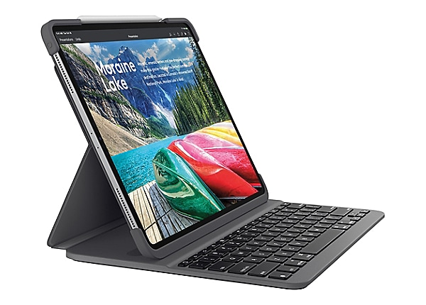 "Logitech 11"" keyboard case Slim Folio Pro - iPad Pro - keyboard and folio c"