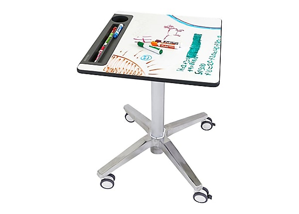 Ergotron LearnFit Sit-Stand Desk - table - rectangular - white, silver