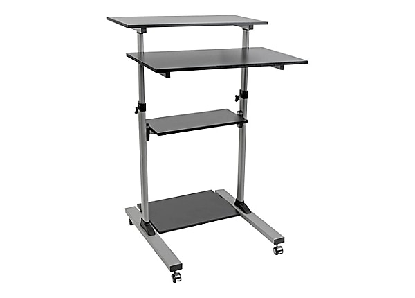 Tripp Lite Rolling Standing Desk Workstation Height Adjustable Mobile