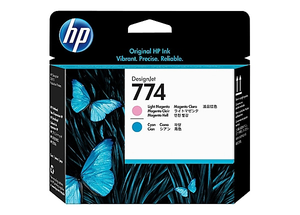 HP 774 - light magenta, light cyan - printhead
