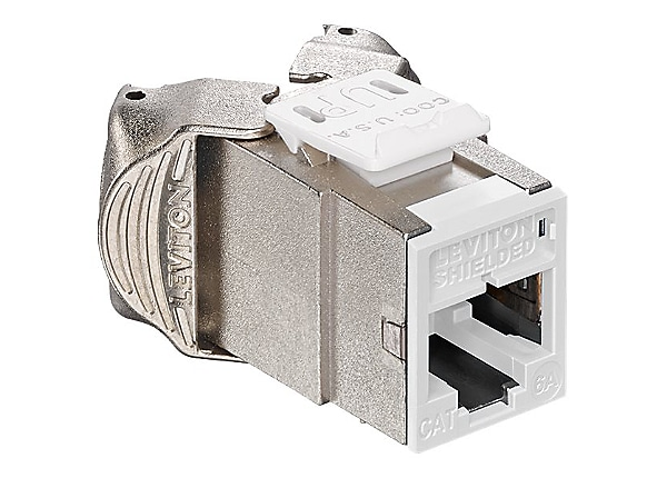 Leviton Atlas-X1 Cat 6A Component-Rated Shielded QuickPort Connector - modu