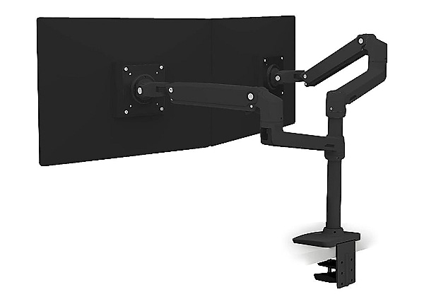 Ergotron LX Dual Stacking Monitor Arm - Matte Black