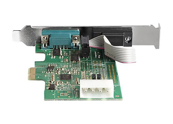 StarTech.com 2-port PCI Express RS232 Serial Adapter Card - PCIe Dual DB9