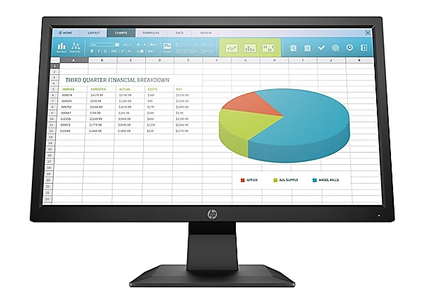 "HP Smartbuy P204 19.5"" HD+ 250cd/m² TN LED Backlight Monitor"