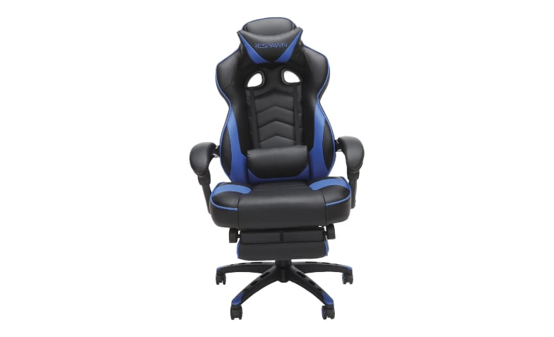 Brilliant Respawn Rsp 110 Racing Style Reclining Footrest Gaming Chair Blue Bralicious Painted Fabric Chair Ideas Braliciousco
