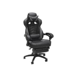 RESPAWN RSP-110 Racing Style Reclining Footrest Gaming Chair - Gray