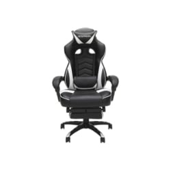 RESPAWN RSP-110 Racing Style Reclining Footrest Gaming Chair - White