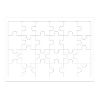 "HamiltonBuhl Print-A-Puzzle 8.5""x11"" Pre-Perforated Puzzle Paper - 25 Pack"