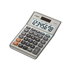 Casio MS-80B Mini Desk Type 8-Digit LCD Desktop Calculator - Gray/Silver