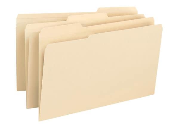 Business Source 1/3-cut 1-Ply Manila Tab File Folder - 50/Box