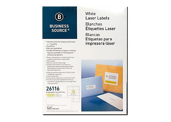 Business Source - address labels - 1000 label(s) - 2 in x 4 in