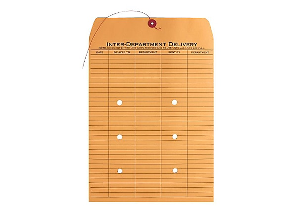 Business Source 2-Sided Interdepartment Envelopes - 100 Per Box