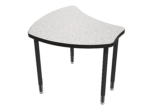 Balt Hierarchy Shapes Adjustable Desk with Markerboard Laminate Top