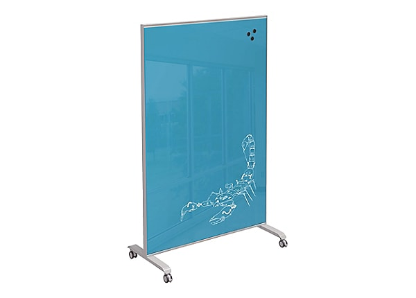 Balt Hierarchy Grow and Roll Mobile Glass Board - Blue