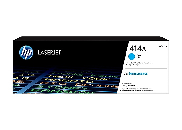 HP 414A - cyan - original - LaserJet - toner cartridge (W2021A)