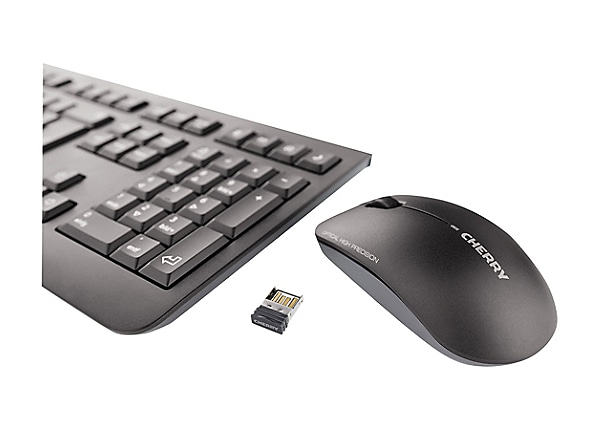 CHERRY DW 3000 - keyboard and mouse set - French AZERTY - black