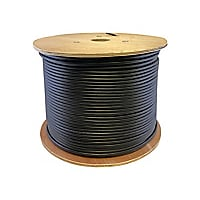Proline 1000ft Non-terminated Black Cat6 UTP Outdoor Rated Patch Cable