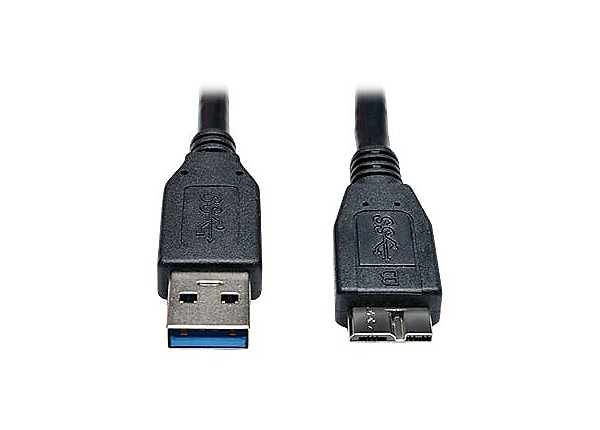 Tripp Lite USB 3.0 SuperSpeed Device Cable A to Micro-B M/M Black 1' 1ft