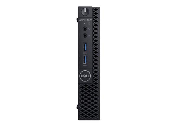 Dell OptiPlex 3070 - MLK - micro - Core i3 9100T 3.1 GHz - 4 GB - 128 GB