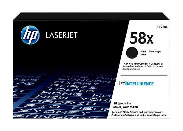 HP 58X - High Capacity - black - original - LaserJet - toner cartridge (CF2