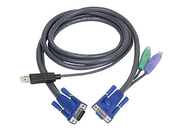 IOGEAR PS/2 to USB Intelligent KVM Cable 6'