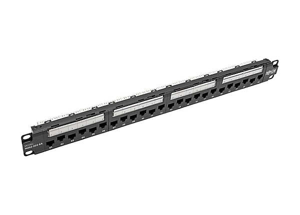 Tripp Lite 24-Port Cat6a Cat6 Cat5e Patch Panel 110 Punchdown RJ45 1URM TAA