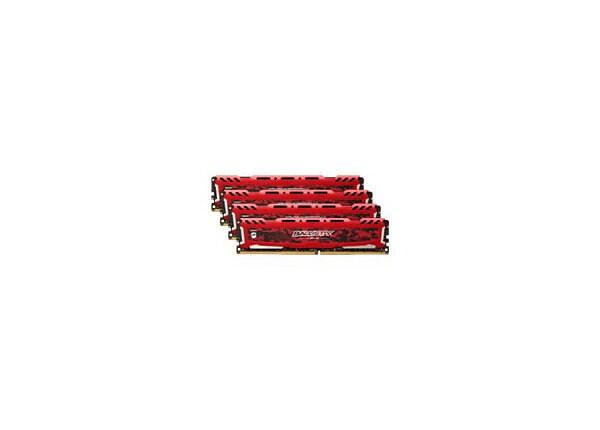 Ballistix Sport LT - DDR4 - 64 GB: 4 x 16 GB - DIMM 288-pin - unbuffered