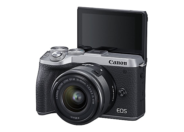 Canon EOS M6 Mark II Mirrorless Digital Camera Kit - Silver