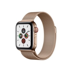 Apple Watch Series 5 (GPS + Cellular) - gold stainless steel - smart watch