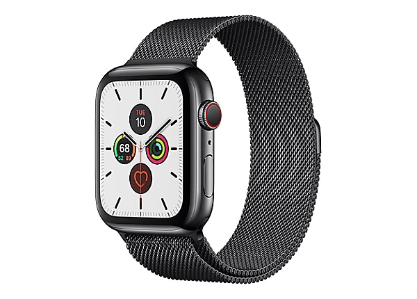 Apple Watch Series 5 (GPS + Cellular) - space black stainless steel - smart