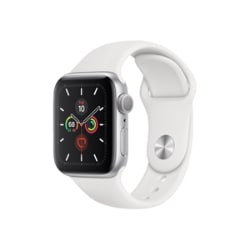 Apple Watch Series 5 (GPS + Cellular) - silver aluminum - smart watch with