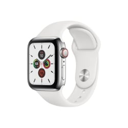 Apple Watch Series 5 (GPS + Cellular) - stainless steel - smart watch with
