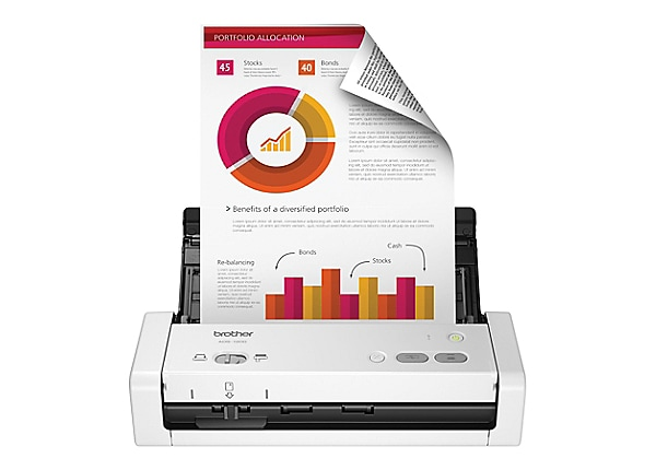 Brother ADS-1200 - document scanner - desktop - USB 3.0, USB 2.0 (Host)