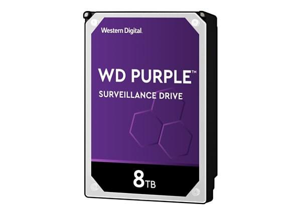 WD Purple Surveillance Hard Drive WD82PURZ - hard drive - 8 TB - SATA 6Gb/s