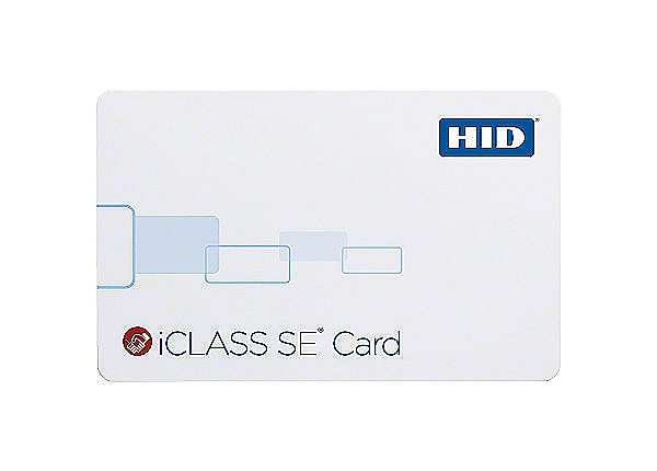 HID iCLASS SE 2K Bits with 2 Application Area Smart Card - Gloss White