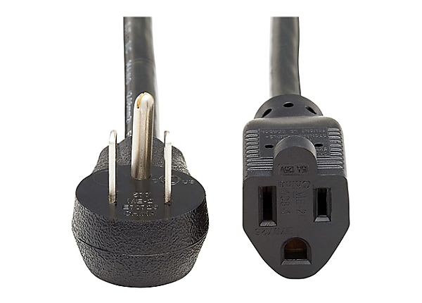 Tripp Lite Power Extension Cord Right-Angle 5-15P to 5-15R 14AWG 15A 6ft