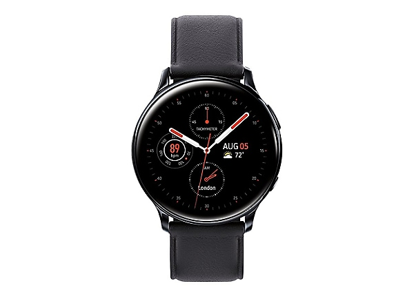 Samsung Galaxy Watch Active 2 - black stainless steel - smart watch with ba