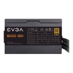 EVGA 600 GD, 80 PLUS GOLD 600W Power Supply Unit