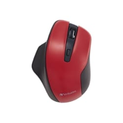Verbatim Silent Ergonomic Wireless Blue LED Mouse - mouse - 2.4 GHz - red