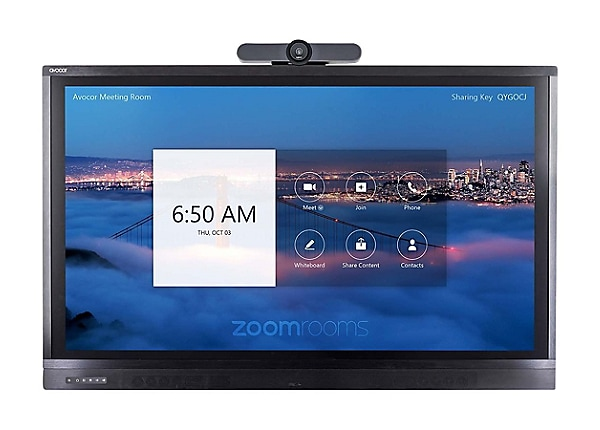 "Avocor ALZ-7520 75"" Display for Zoom Room Touch with MeetUp"
