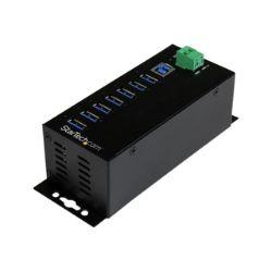 StarTech.com 7 Port USB Hub w/ Power - Industrial - Mountable USB 3.0 Hub