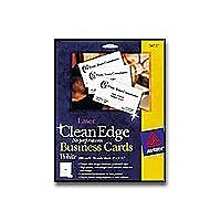 Avery Laser Clean Edge Business Cards