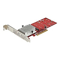 StarTech.com Dual M.2 PCIe SSD Adapter Card - NVMe or AHCI NGFF M-Key SSD